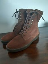 Russell And Bromley Suede Ankle Boots Size 6