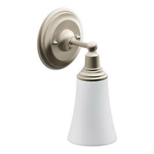 Moen Vanity Light Single Bulb Wall Sconce Nickel Finish