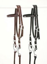 King Series horse size brown nylon brow band complete bridle set equine 42-7298