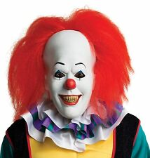Halloween MOVIE IT PENNYWISE CLOWN ADULT LATEX DELUXE MASK COSTUME NEW
