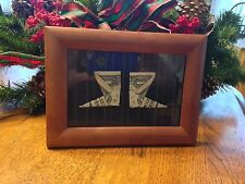 Framed Origami Boots    $1 Bill Money    Awesome Gift Idea!