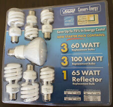 CFL Starter Pack 7 Light Bulbs, 1 65 W Reflector, 3 100 W, 3 60 W Replacements