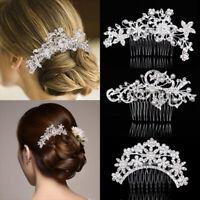 Rhinestone Crystal Pearl Wedding Bridal Hair Comb Fashion Jewelry Headpiece