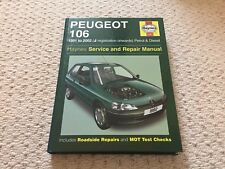 HAYNES MANUAL PEUGEOT 106 1991-2002  Service & Repair 1882 PERFECT Looks Unused