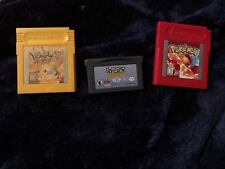 authentic Pokemon: Red&yellow version GB cartoonNetwork speedway GBA game tested