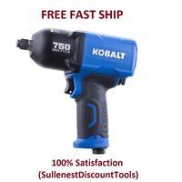Kobalt Impact Wrench Pneumatic 1/2-in Drive 0.5-in 750-ft Air Tool Gun NEW!