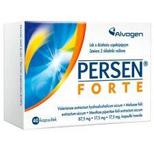 Persen Forte 40 Capsules CALMING SLEEP ANTI-STRESS HERBAL SUPPLEMENT