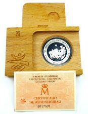 Spain 2000 Pesetas 1992 Silver Coin Proof Olympics in Barcelona Quadriga (T120)