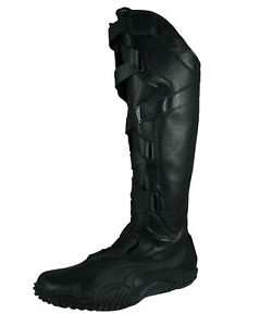 Puma Mostro Alto Women's Knee High Boots Hook & Loop Strapped Shaft Rare - Black