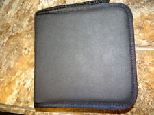 12 Disc CD DVD Nylon Carrying Case Black