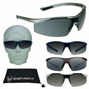 Sport Wrap Sunglasses Half Frame Lightweight Golf Runner Cycling Driving Glasses