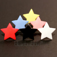 FUNKY BOYS MENS SINGLE 18mm STAR EARRING ROCK COOL BROTHER DAD FUN GIFT EMO PUNK