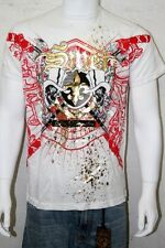New With Tags Smet By Christian Audigier Men White Sever T-shirt Size XXLarge
