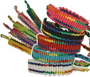 Gay Lesbian Rainbow Hemp Tie on Fashion Friendship Bracelet Wristband