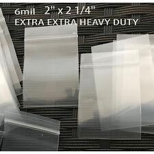 """24 small ziplock bags 2"""" x 2 1/4""""   6mil    EXTRA EXTRA HEAVY DUTY"""