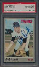 1970 Topps #93 Rick Renick Autographed PSA/DNA Certified Authentic 41521