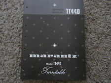 New listing Marantz Tt440 Stereo Turntable Phono Original Service Repair Manual