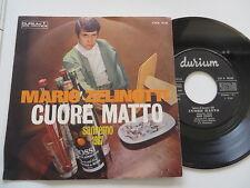 """Mario ZELINOTTI-CUORE MATTO San Remo 1967 7"""" VINILE/COVER: excellent"""