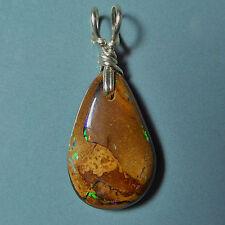 Petit pendentif argent Opale Boulder Koroit Australie 6ct VIDEO Opal pendant