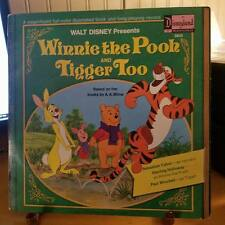 WINNIE THE POOH AND TIGGER TOO-WALT DISNEY-RECORD AND BOOK-c1974-3813-NEAR MINT