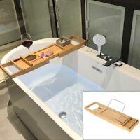 Adjustable Bathtub Rack Bath Caddy Extension Wine  Books Holder UK