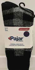 Pajar Womens's Thermal Crew Socks Size 9-11 Black Plaid New NWT