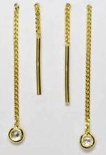 ECHT GOLD  *** Durchzieher mit Zirkonia Ohrringe Ohrhänger