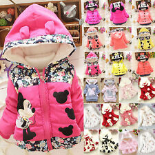 Girls Baby Child Coat Jacket Winter Hooded Warm Outdoor Parka Kids Padded Coats