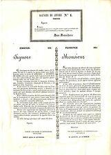 Notifica di Apertura Agenzia Affari N. 1 Firenze Giuseppe d'Antonio Martini 1841