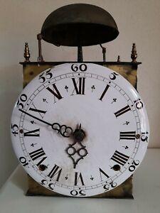 Mouvement mécanisme horloge comtoise cadran terre cuite Uhr Wanduhr wallclock