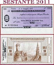 BANCA TRENTO E BOLZANO LIRE 100 3.5. 1977 ORESTE DETASSIS GRUPPO VEGE' FDS B171