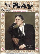 "Forbes-Robertson ""HAMLET"" Gertrude Elliott 1913 London ""PLAY"" Pictorial Magazine"