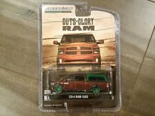 GREENLIGHT 1:64 GUTS-GLORY 2014 DODGE RAM 1500 TRUCK W/ CAMPER SHELL 29809 CHASE