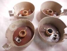 EF37A 12E1 Brass Valve Tube Anode Connectors Caps x 4 NOS
