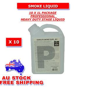 10 LTR HEAVY DUTY MIST Smoke Fluid Fog Liquid LED, Laser Light free postage