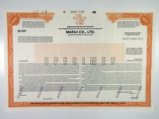 Japan. Marui Co. Ltd., 1988 Specimen ADR Certificate, XF ABNC