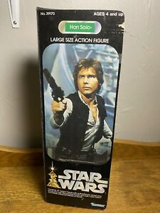 """Star Wars Han Solo Large Size Action Figure 1979 Kenner 12"""" In Box Used"""