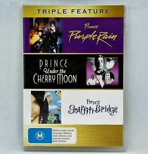 PRINCE Purple Rain Under The Cherry Moon Graffiti Bridge DVD 3 Discs Rare Free📮