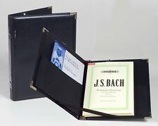 Concert Legacy Black Choral Choir Music Folder w/ Strings Expand Pocket & Pencil