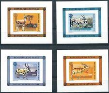 Tschad - Rotary International Huftiere 4 Blöcke postfrisch 1996 Mi. 1448-1451 B
