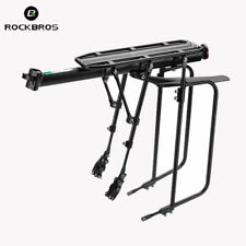 RockBros Cycling Aluminum Alloy Adouble Brace Luggage Pannier Rack 75KG Black