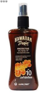 Hawaiian Tropic Protective Dry Spray Oil SP F10 Low Sun Tan 200ml New