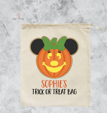 Personalised Minnie Mouse Halloween Trick or Treat Bag Pumpkin Sack