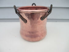 Turkart Hammered Dovetailed Solid Copper Pot Cauldron w/ Iron Handles Turkey