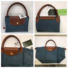 NWT Longchamp Le Pliage 12 MD Handbag ✨ Blue Purse Travel Tote Bag  Paris France