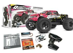 Maverick Quantum MT 1/10 4WD Monster Truck RTR 2.4GHz Battery Chargr Pink 150101