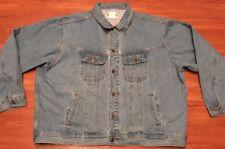 Wrangler Rugged Wear Blue Denim Vintage Trucker Jacket Men's Size 3XL
