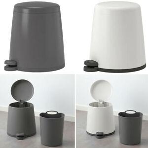Ikea SNAPP Waste Paper & Pedal Bin Bag Storage Organiser With Handle 5l