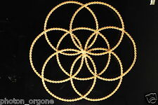 Full Cubit Seed of Life Radiation Protection Tensor Ring Full & 1/2 Sacred Cubit