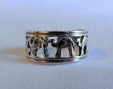 Sterling Silver (925) Adjustable Camels Toe Ring ! Brand New !